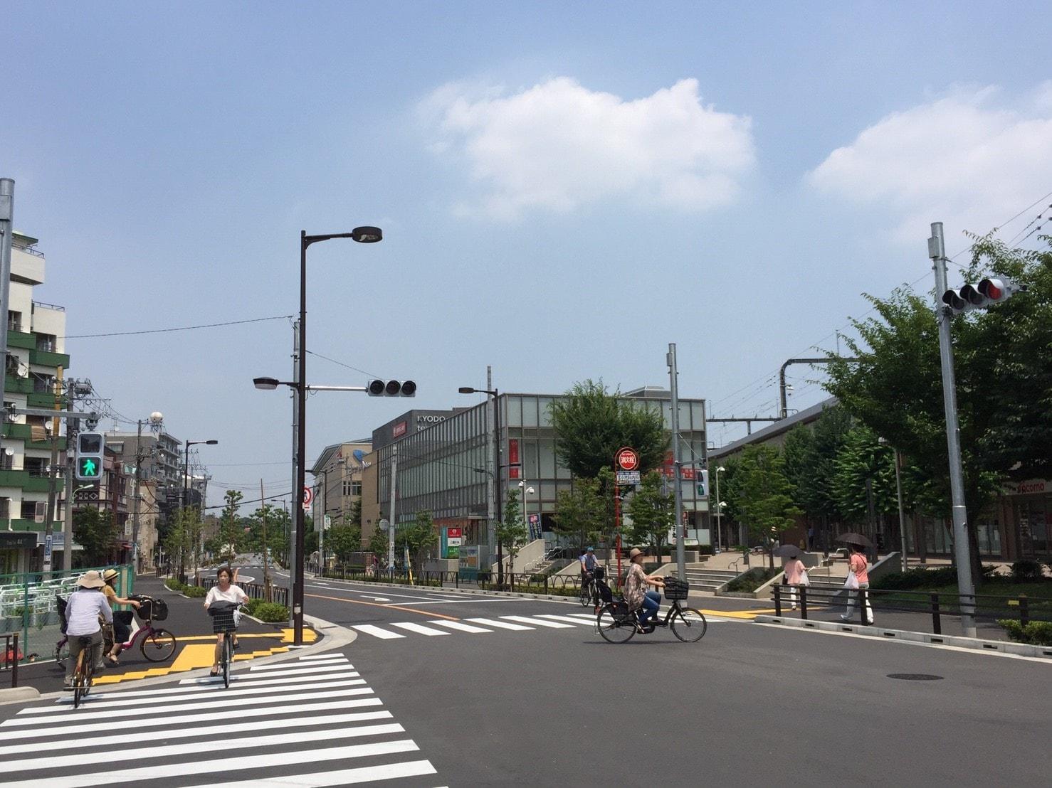 駅北口の風景
