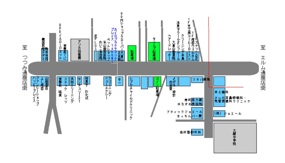 オリーブ通り商店街マップ