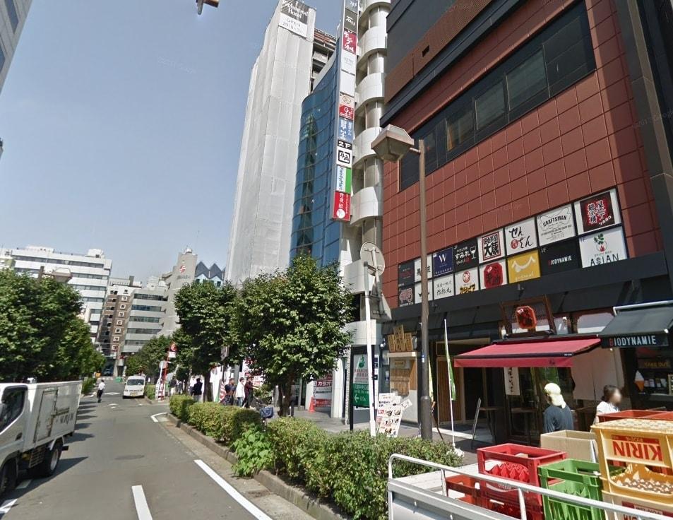鶴屋町の道路