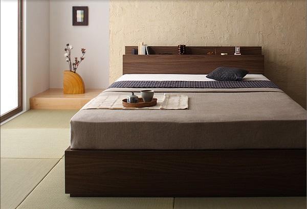 畳に合わせやすい和風なベッド