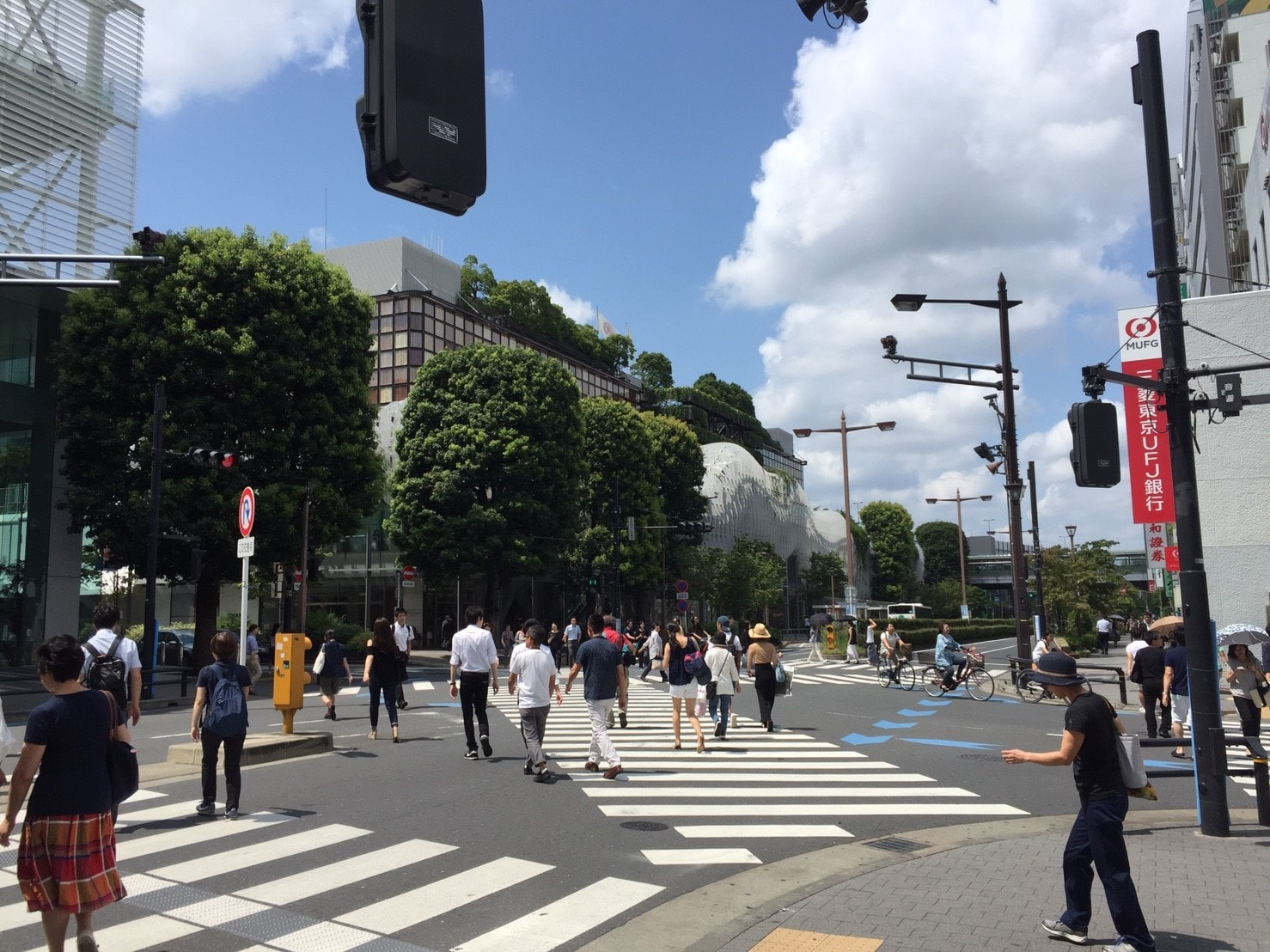 二子玉川駅西口の風景
