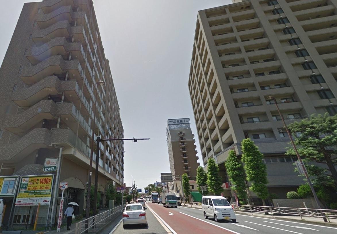 東海道線沿いの様子
