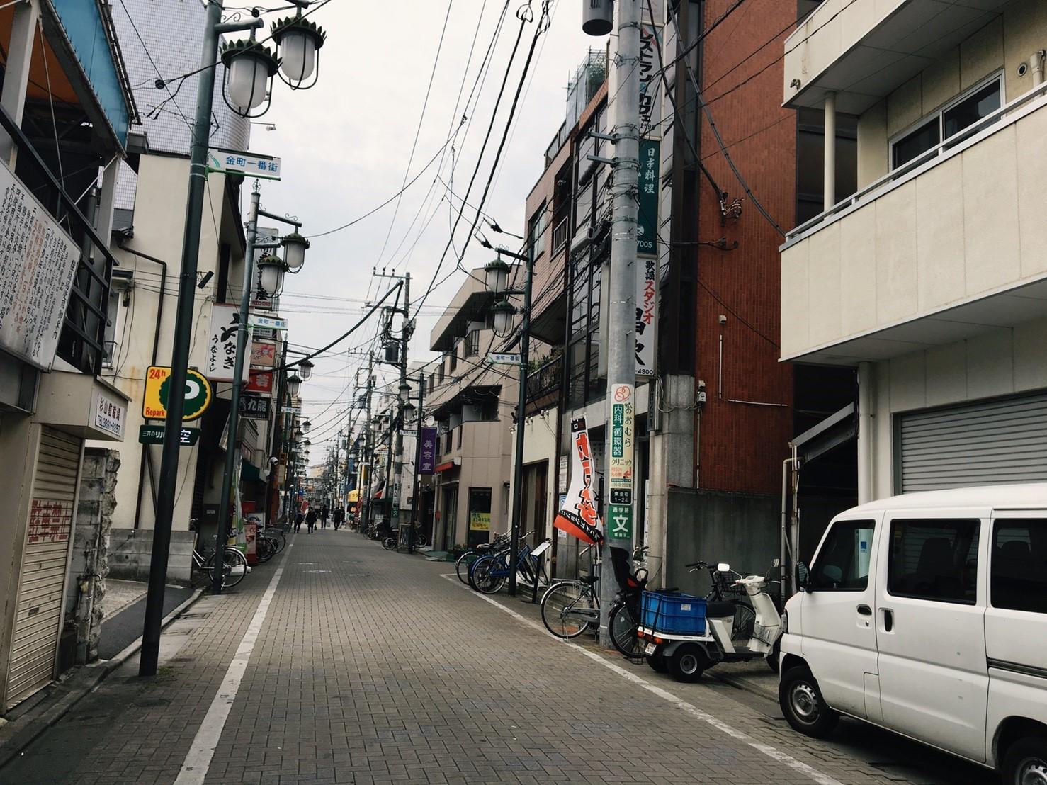 地元の商店街の風景