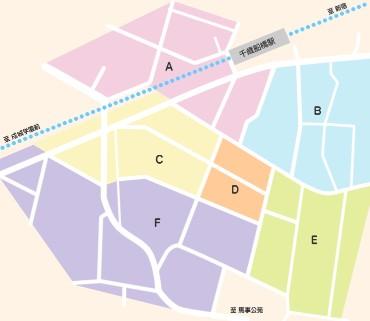 千歳船橋参商会商店街マップ