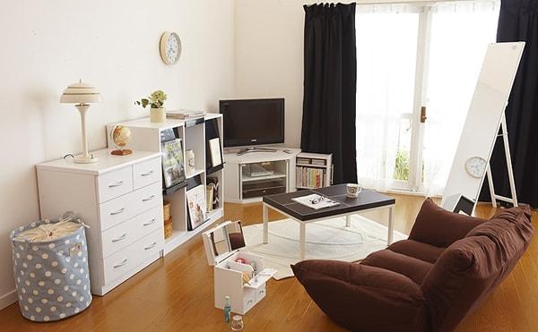 狭い6畳未満の部屋の配置例