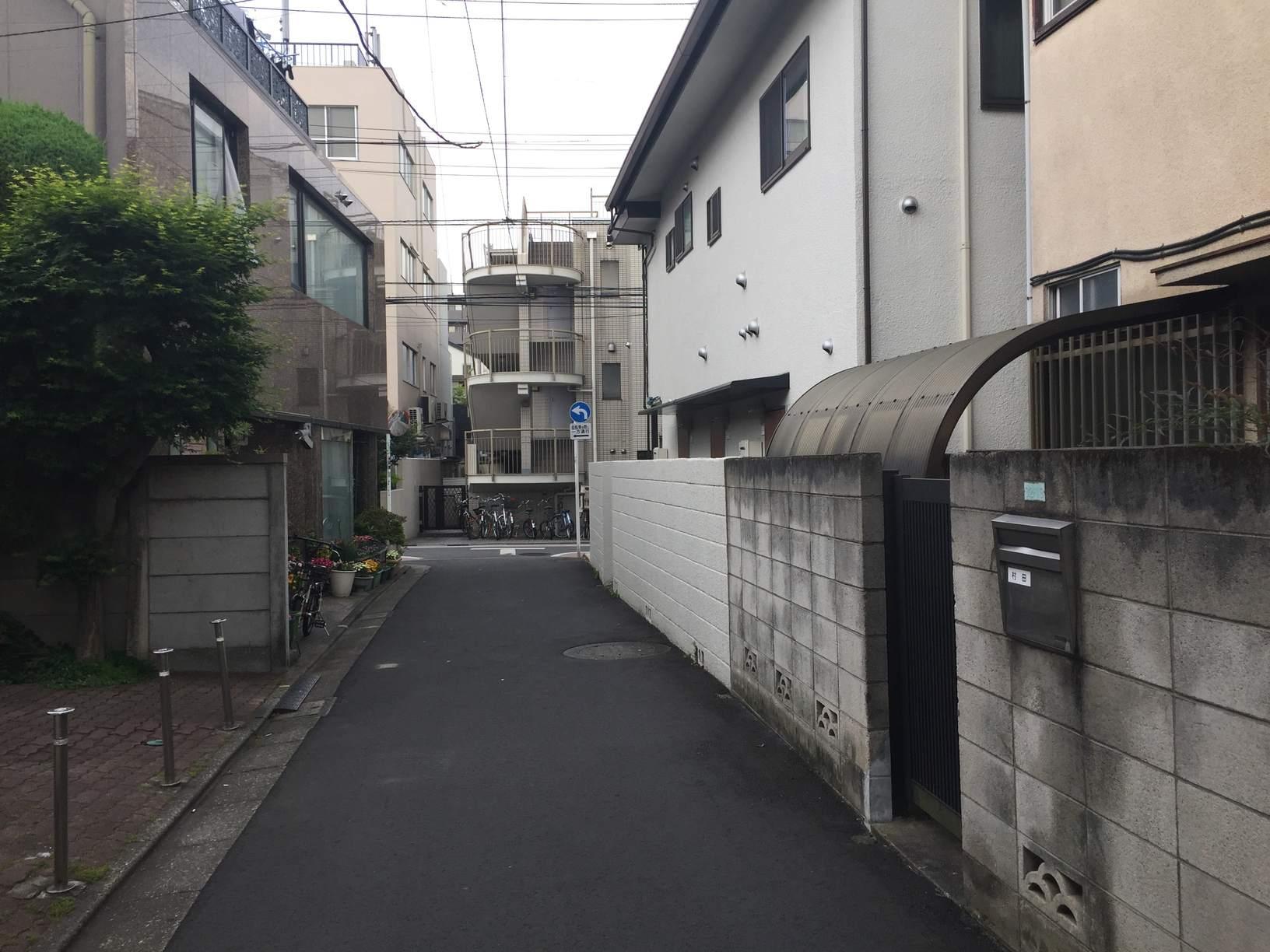 一戸建てが混在する住宅街