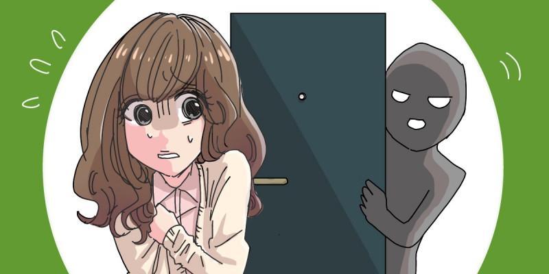 一人暮らしであった怖い体験談のイメージイラスト