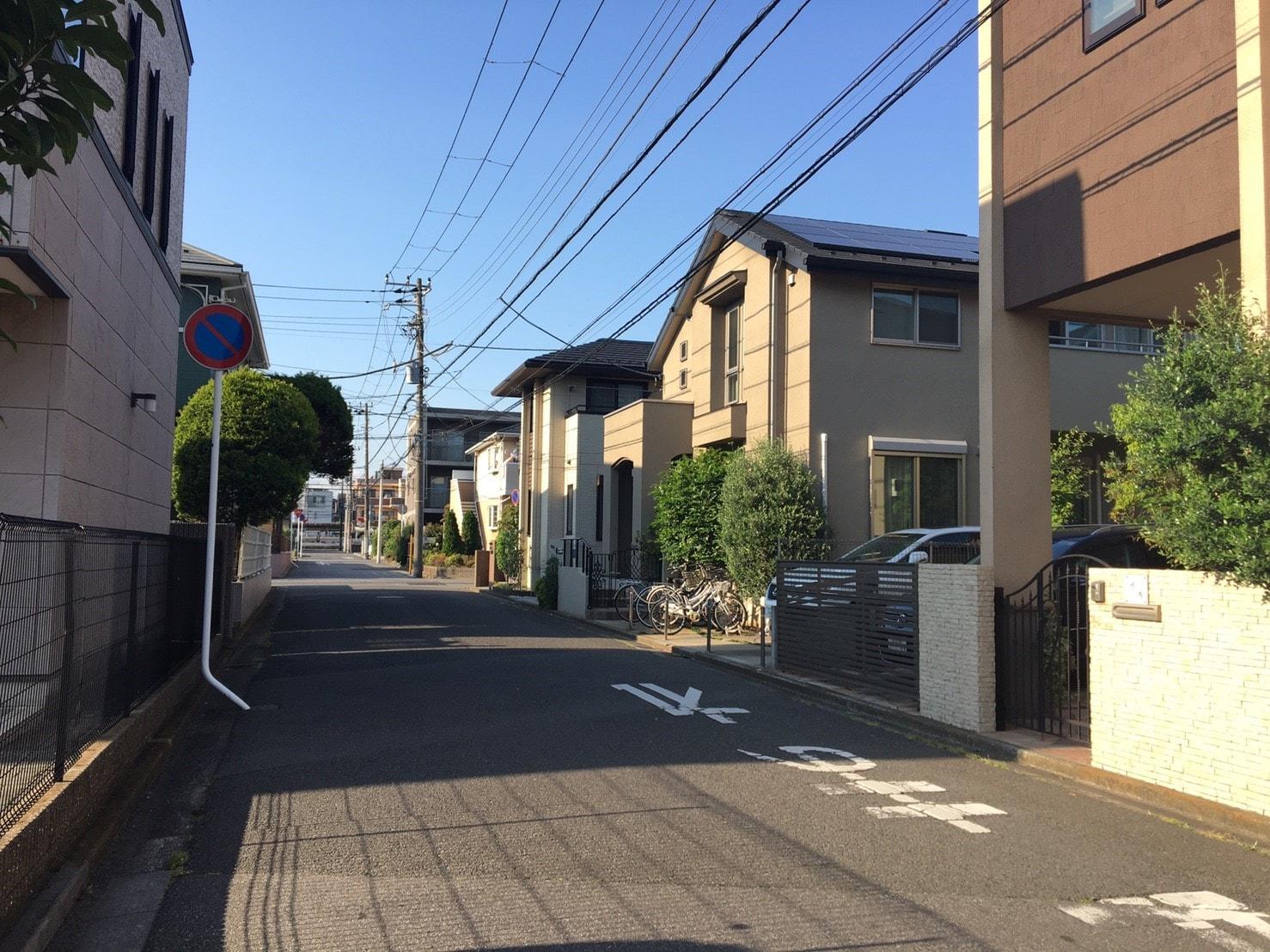 一戸建てが多い住宅街