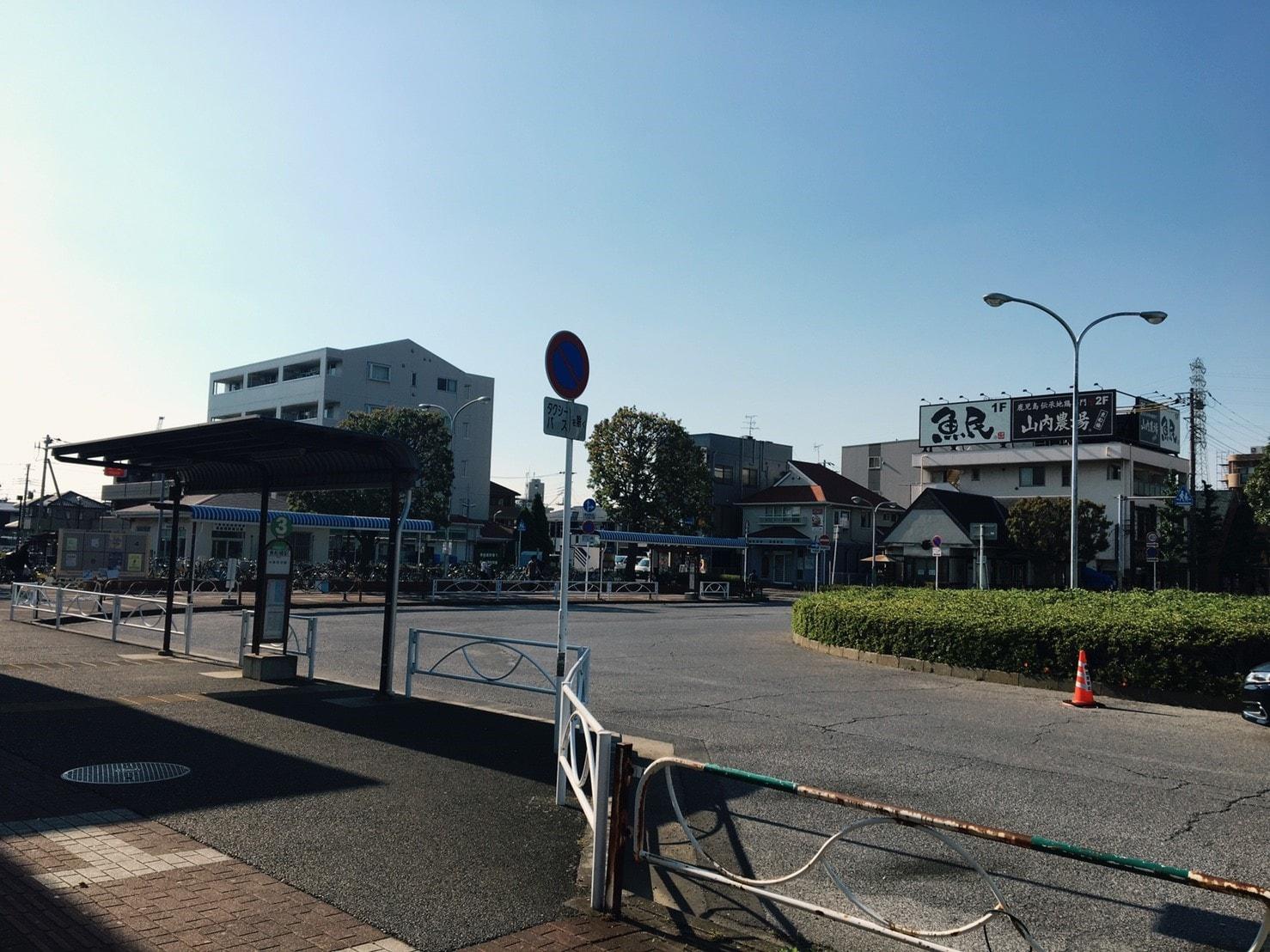 駅前広場の様子