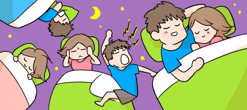 同棲カップルは同じ寝室で寝るべき?のイメージイラスト