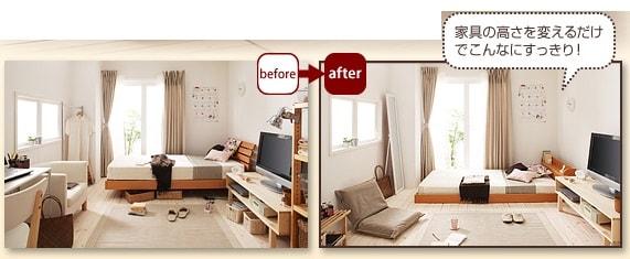 家具の高さを変える