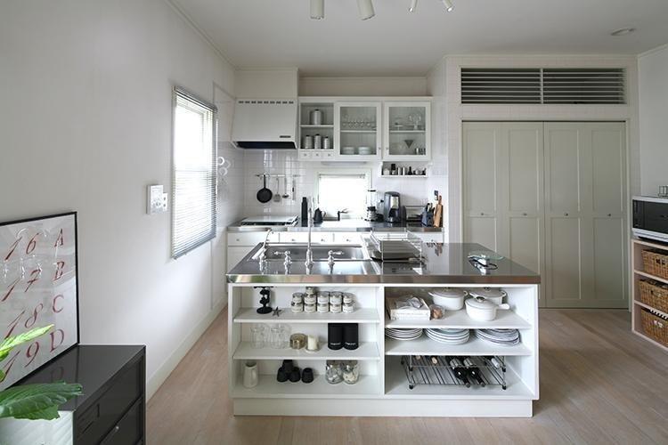 見せるキッチン収納