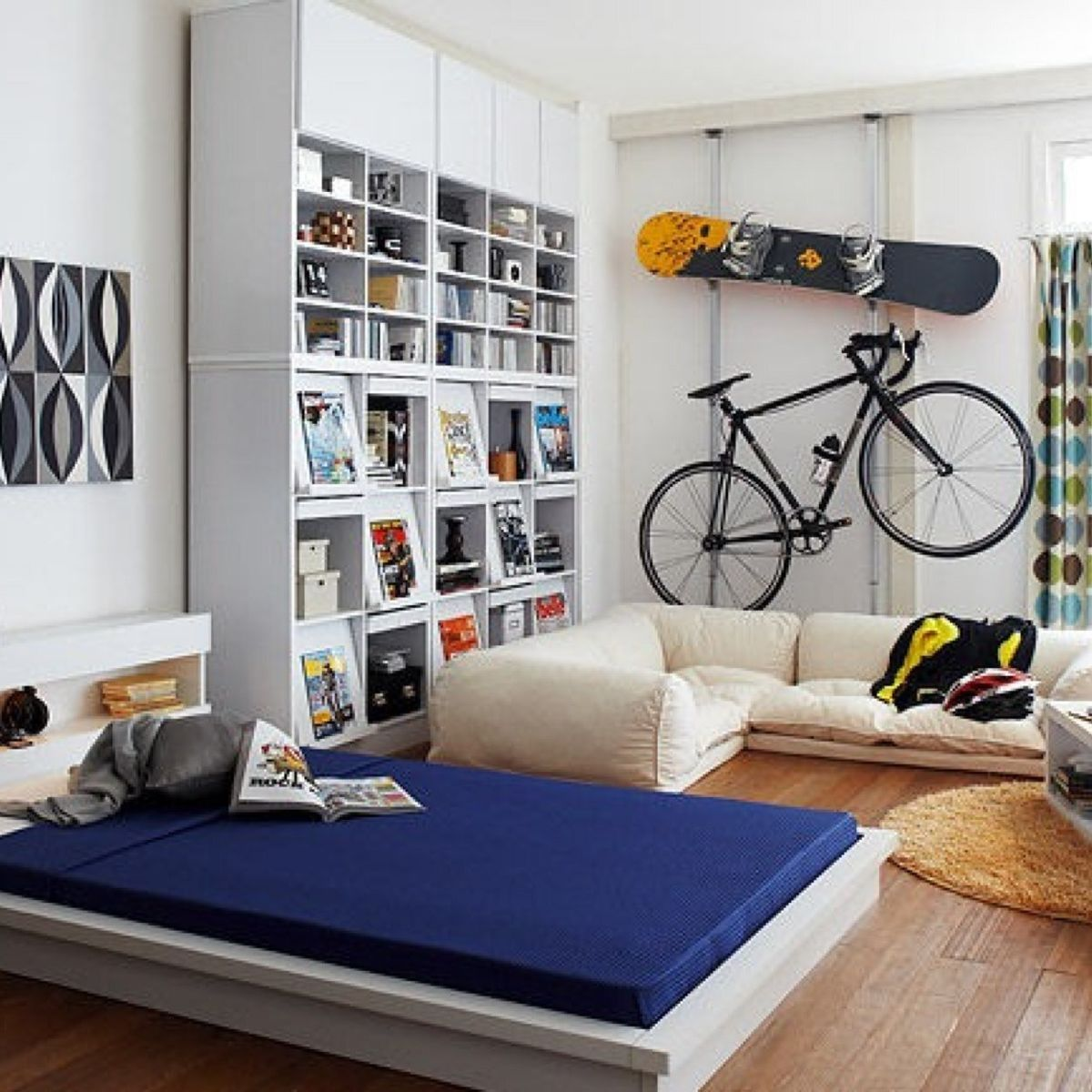 趣味をインテリアとしてデザインした部屋