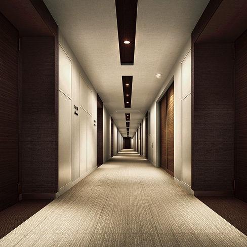マンションの内廊下