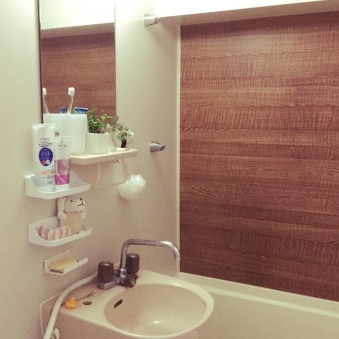 浴室の洗面台アレンジ①