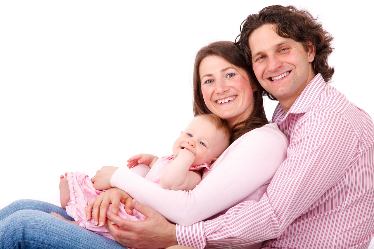 3人家族の画像