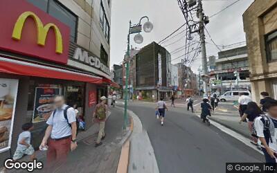 下丸子駅前商店街の風景