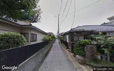 下丸子道の狭い住宅街