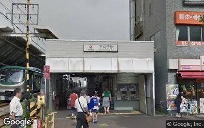 下丸子駅北口の風景