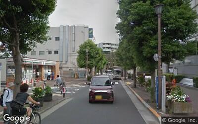 下丸子駅北口駅前の風景