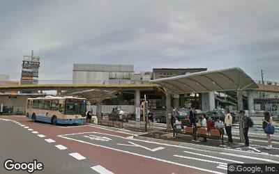 茨木駅西口にあるバスターミナルの様子