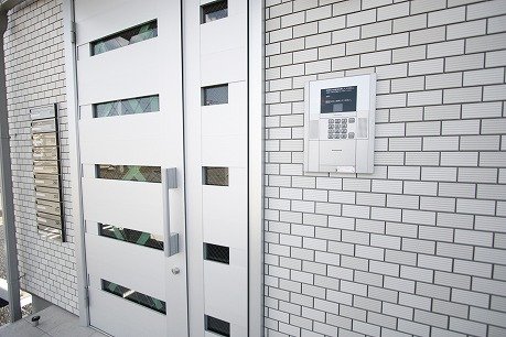 オートロック付きの入口