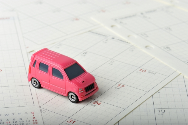 カレンダーとミニカー