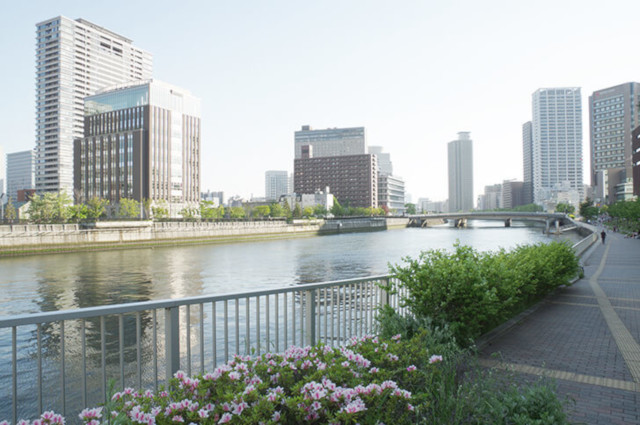 川とマンション