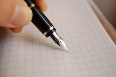 ペンと方眼紙