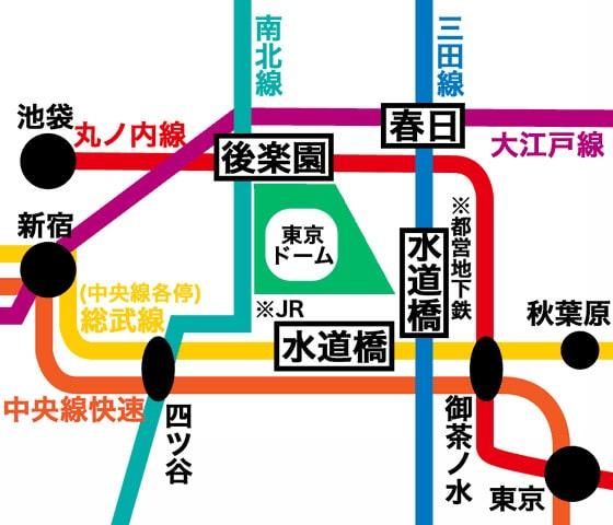 水道橋路線図