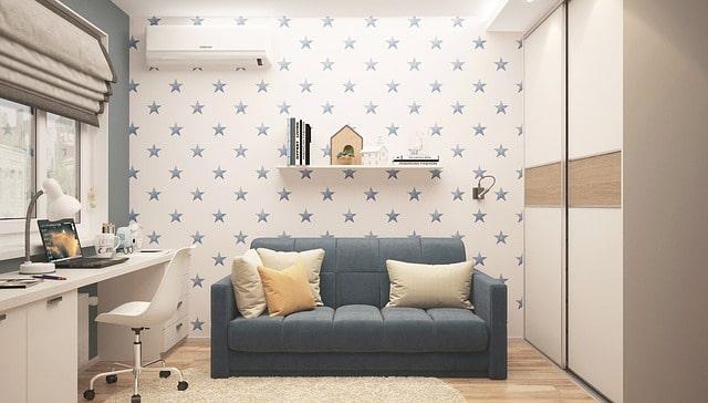 壁紙が星柄の部屋