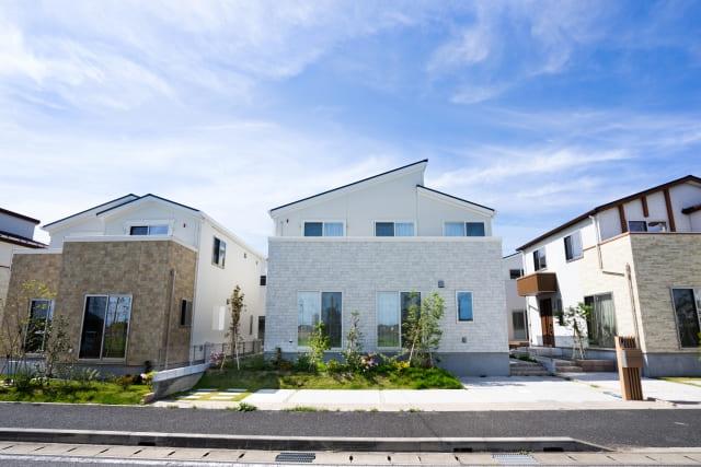 新興住宅地の町並み