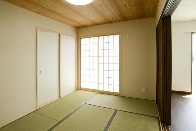 畳が敷かれている和室