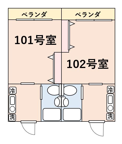 防音性が高いRC造の間取り図例