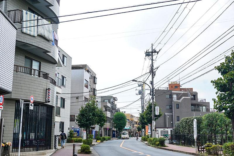 田柄通りの風景