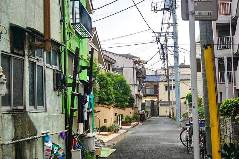 商店街の脇道