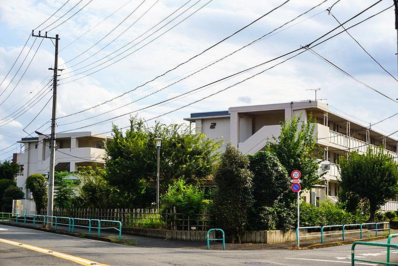 練馬駐屯地西側の住宅