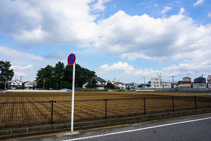 練馬東小学校から東側の畑