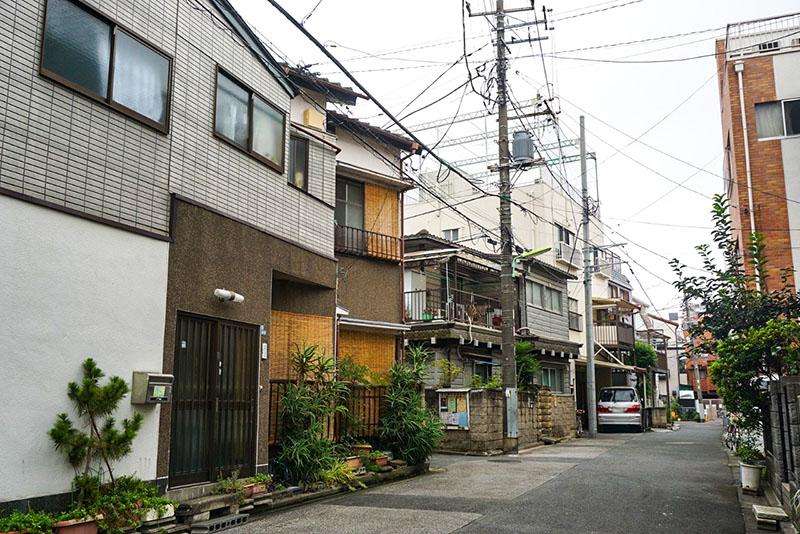 東向島駅から北西の住宅街