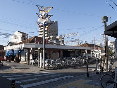 沢ノ町駅周辺の街並み