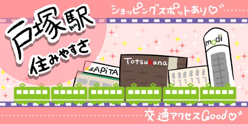 戸塚駅の住みやすさのイメージイラスト