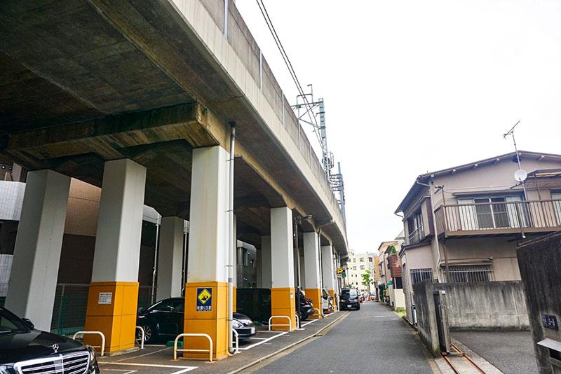 伊勢崎線の高架下