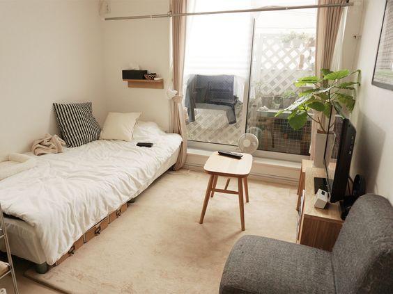背の低い家具を配置