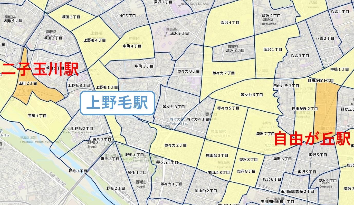 上野毛周辺ん_治安マップ