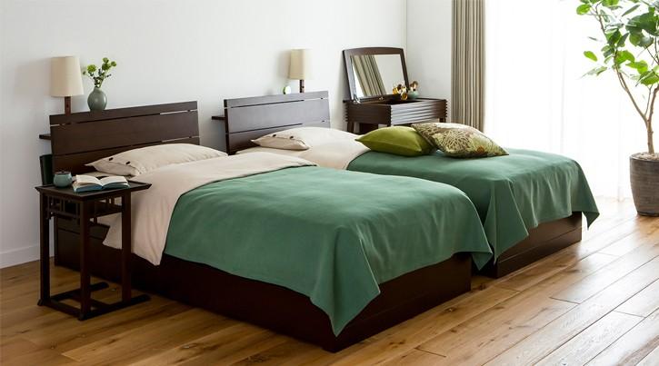 シングルベッドを2つ配置したレイアウト