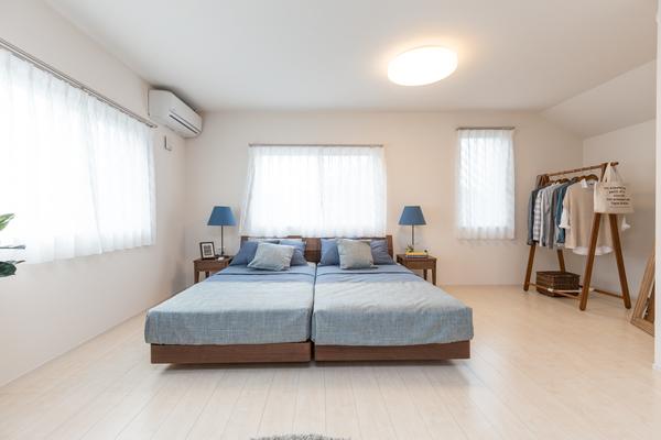 シングルベッドを2台配置したレイアウト