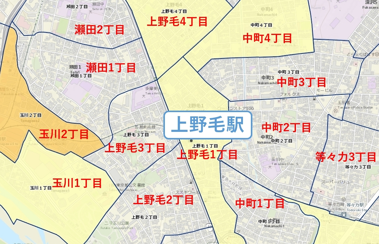 上野毛_治安マップ