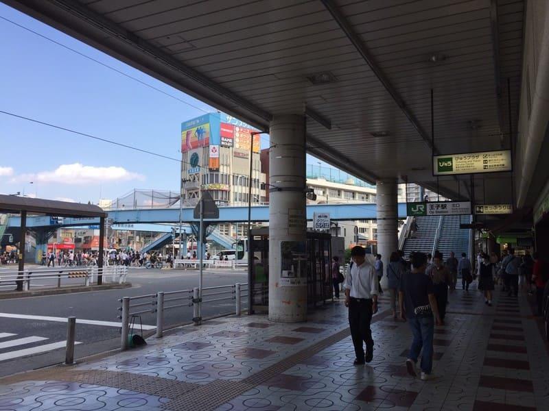 王子駅北口の風景