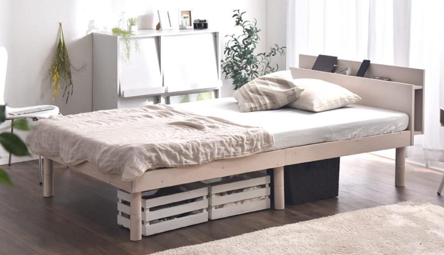 お部屋の真ん中にベッドを配置