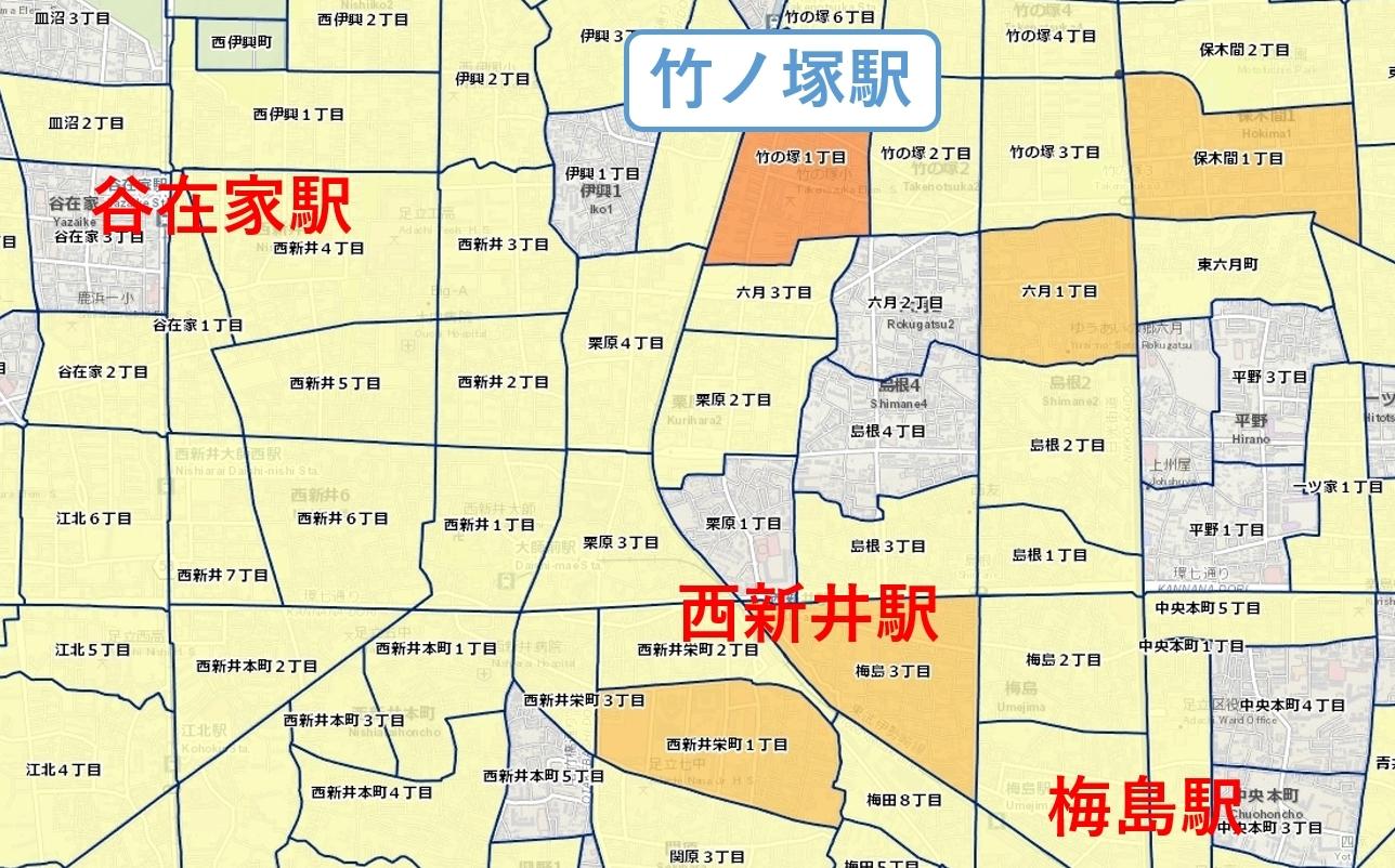 竹ノ塚周辺_治安マップ